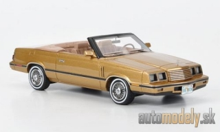 NEO - Dodge 600 Convertible, gold, limited Edition 500 Pieces, Model Car World Exclusiv, 1984 - 1:43