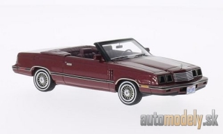 NEO - Dodge 600 Convertible, met. dark red , 1984 - 1:43