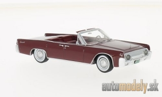 NEO - Lincoln Continental 53A Convertible , dark red, 1961 - 1:43