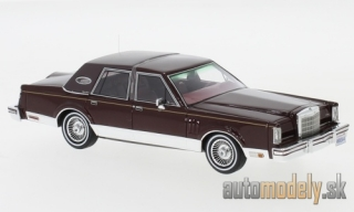 NEO - Lincoln Continental Mark VI Signature series, metallic-dark red, 1980 - 1:43