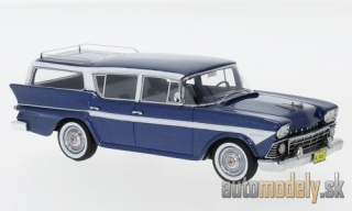 NEO - Rambler customs Cross Country 6 Station Wagon, metallic-dunkelblau/white, 1958 - 1:43