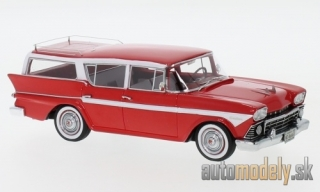 NEO - Rambler customs Cross Country 6 Station Wagon, red/white, 1958 - 1:43