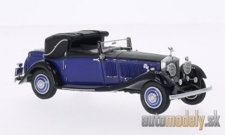 NEO - Rolls Royce Phantom II Continental DHC Gurney Nutting, blue/black, RHD - 1:43