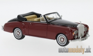 NEO - Rolls Royce silver Cloud III Convertible, dark red/black, RHD, 1964 - 1:43