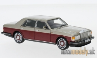 NEO - Rolls Royce silver spirit, metallic-hellbeige/metallic-dark red, RHD, 1987 - 1:43