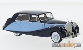 NEO - Rolls Royce silver Wraith Hooper Empress Line, dark blue/light blue, RHD, 1956 - 1:43