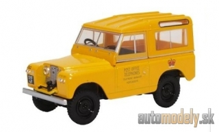 Oxford - Land Rover series II SWB Hard Top, yellow, RHD, Post Office telephones - 1:43