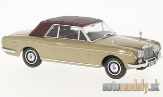 Oxford - Rolls Royce Corniche Convertible, metallic-dunkelbeige/matt-dark red, RHD, closed - 1:43