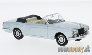 Oxford - Rolls Royce Corniche Convertible, metallic-light blue, RHD - 1:43