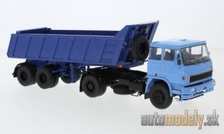 Premium ClassiXXs - LIAZ 110, light blue, with MAZ 9506-20 Kippauflieger - 1:43