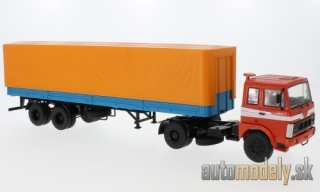 Premium ClassiXXs - MAZ 5432, red/blue, with trailer MAZ 93971 - 1:43