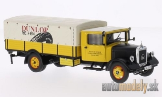 Premium ClassiXXs - Mercedes LO 2750, yellow/black, Dunlop, with cover - 1:43