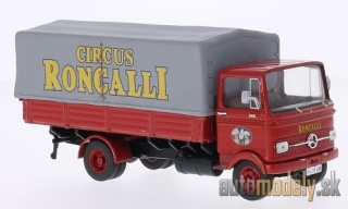 Premium ClassiXXs - Mercedes LP 608, red, Circus Roncalli , with cover - 1:43