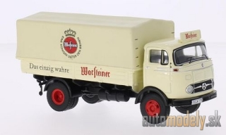 Premium ClassiXXs - Mercedes LP 911, Warsteiner, flatbed platform trailer-truck with removable cover, 1959 - 1:43