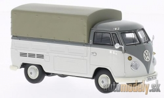 Premium ClassiXXs - VW T1 flatbed platform trailer, grey, with cover - 1:43