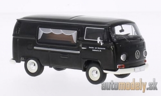 Premium ClassiXXs - VW T2a box wagon, black, community- and Sterbevereine Rohrbach, hearse - 1:43