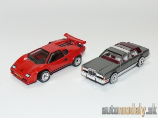 Matchbox CMP03 - The World's Greatest Automakers Collection - 1985 Lamborghini Countach LP500S + 1988 Lincoln Town Car + Certificate Of Authenticity - 2 pack
