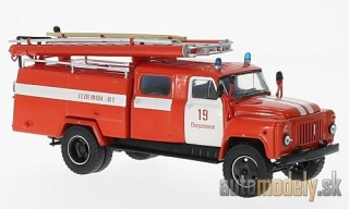 SSM - GAZ 53-12 (106B) AC-30, red/white, fire brigade - 1:43