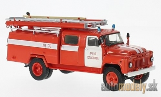 SSM - GAZ 53A (106A) AC-30, red/white, fire brigade - 1:43