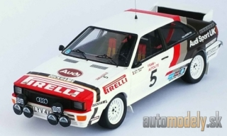 Trofeu - Audi quattro, No.5, Audi sport UK, Welsh Rally, B.Waldegaard/P.Short, 1982 - 1:43