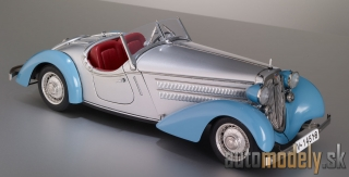 CMC - Audi 225 Front Roadster, 1935 (silver/blue) - 1:18