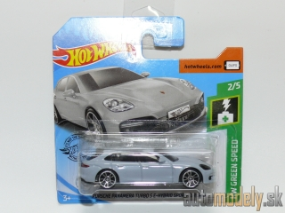 Hot Wheels 041F0 - HW Green Speed 2019 Porsche Panamera Turbo S E-Hybrid Sport Turismo 2/5