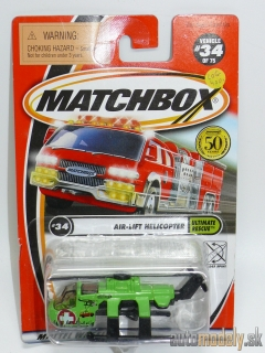 Matchbox Hero City #34/75 95230 - Air-Lift Helicopter