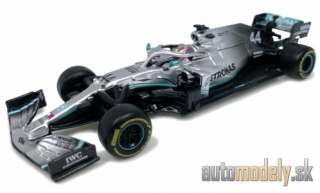 Bburago - Mercedes AMG F1 W10 EQ Power+, No.44, Mercedes AMG Petronas F1 team, Petronas, formula 1, with figure, L.Hamilton, 2019 - 1:43