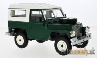 BoS-Models - Land Rover Lightweight series III Hard Top, dunkelgrün/beige, RHD, 1973 - 1:18