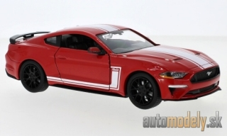Motormax - Ford Mustang GT, rot/weiss, 2018 - 1:24