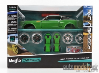 Maisto - 1967 Ford Mustang GT Stavebnica - 1:24