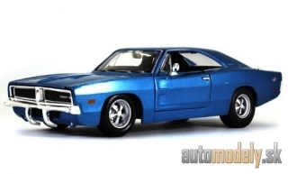 Maisto - Dodge Charger R/T, metallic-blue, Maßstab 1:25, 1969 - 1:25