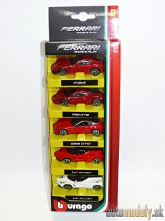 Bburago - Ferrari Race & Play 5 Pack - 1:64